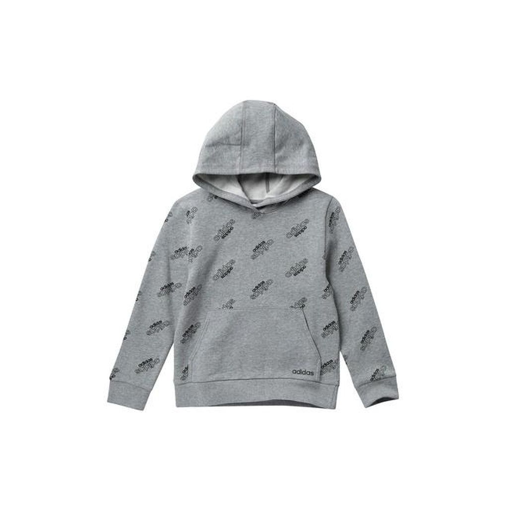 Heather Fleece Core Printed Hoodie