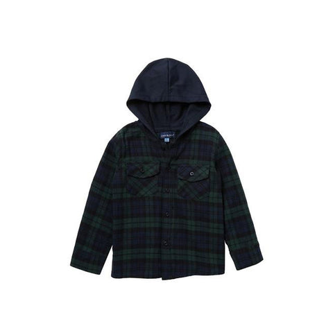 Hooded Button Down Jacket
