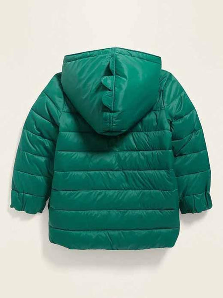 Hooded Packable Nylon Jacket for Toddler Boys