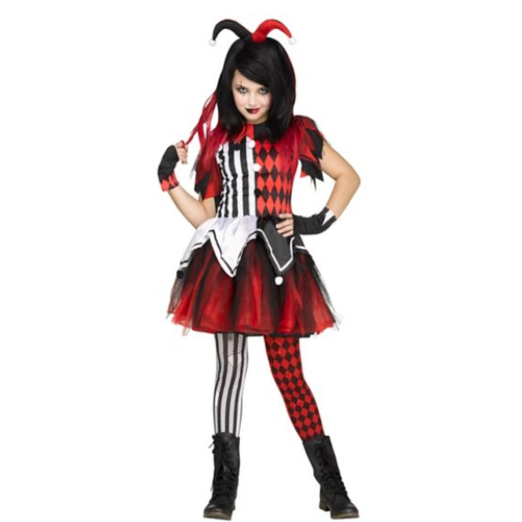 Kids Horror Harlequin Costume
