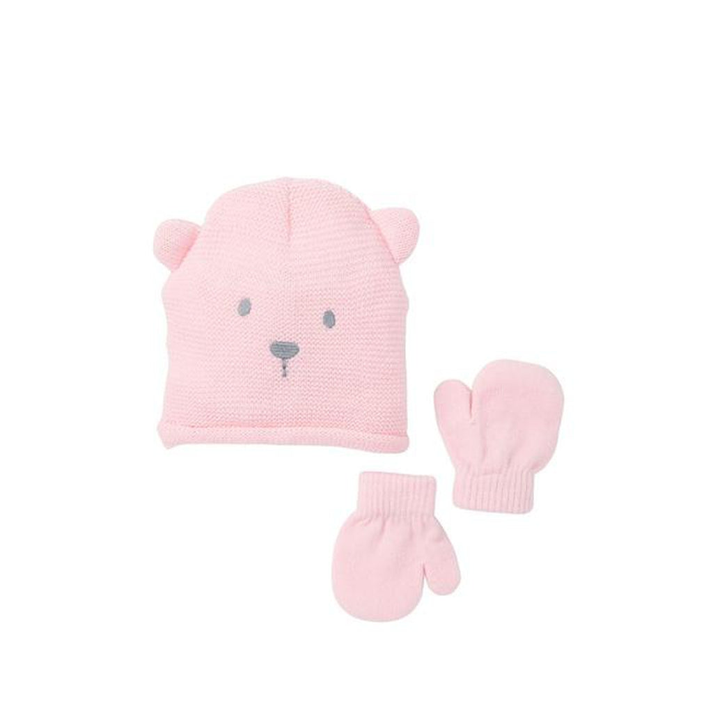 Knit Bear Beanie & Mittens - 2-Piece Set