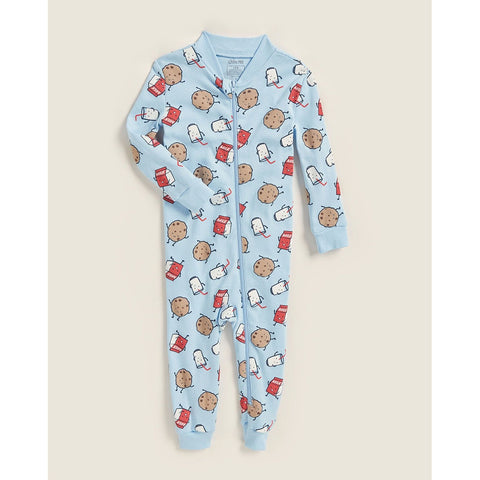 Milk & Cookies Zip Pajama Romper
