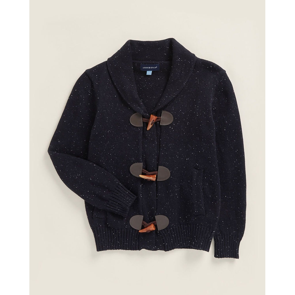 Navy Toggle Front Cardigan