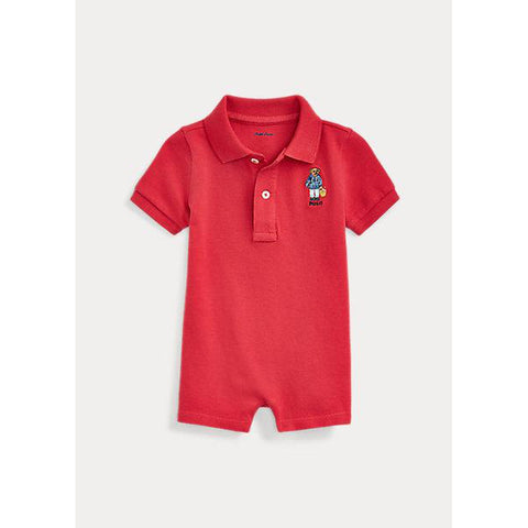 Polo Bear Cotton Mesh Shortall