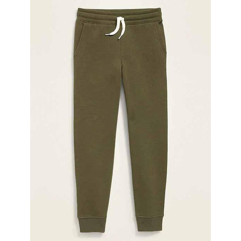 Relaxed Drawstring-Waist Straight-Leg Joggers for Boys