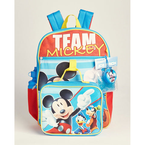 Team Mickey 5-Piece Backpack Set