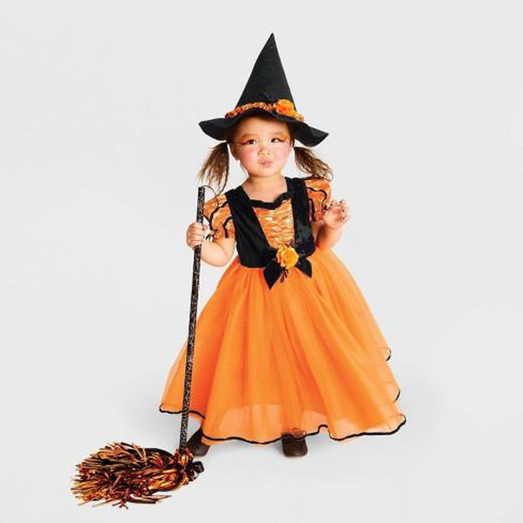 Toddler Girls' Fancy Witch Halloween Costume Orange - Hyde & EEK! Boutique™