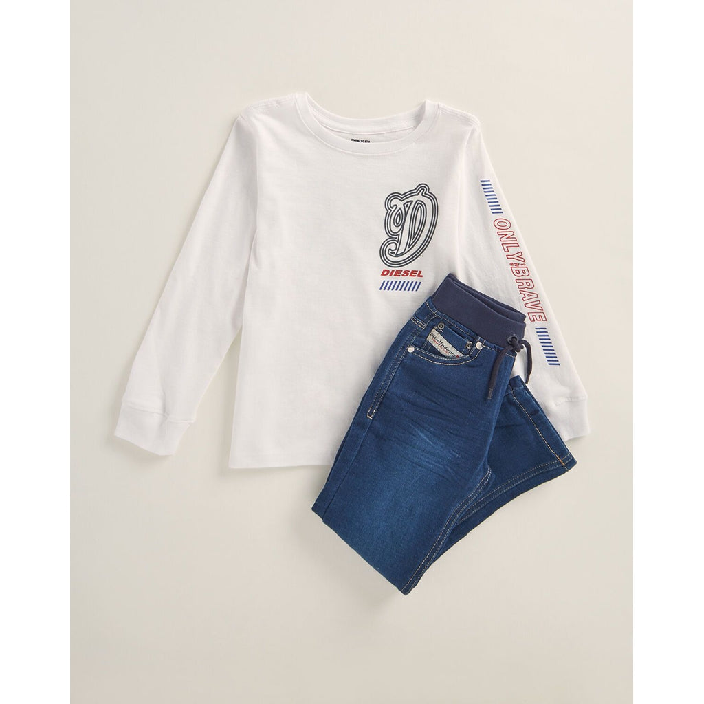 Two-Piece Graphic Tee & Jeans Set