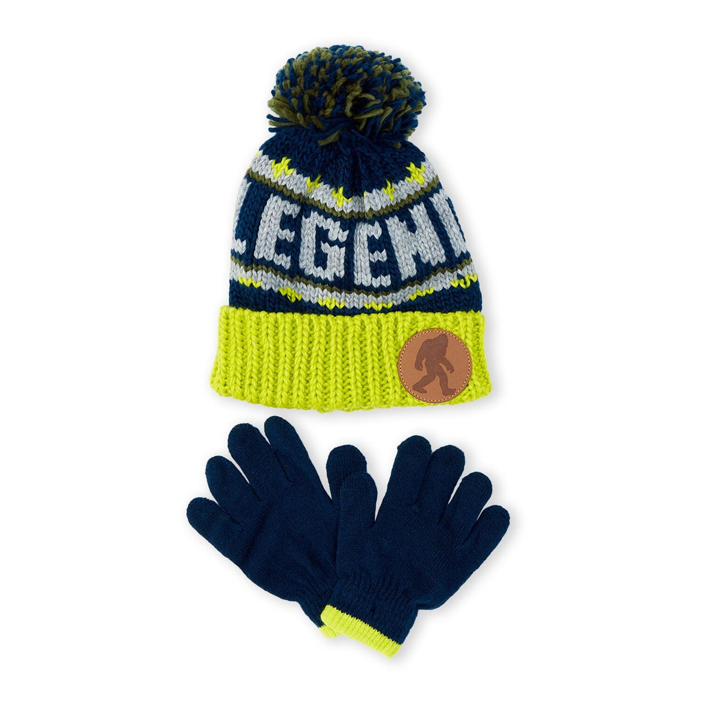 Two-Piece Green Legend Beanie & Gloves Set