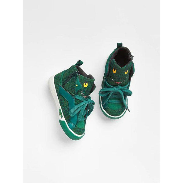3D Graphic Hi-Top Sneakers