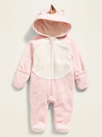 Micro Performance Fleece Critter One-Piece for Baby