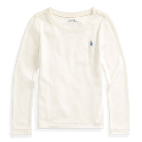 Cotton-Blend Long-Sleeve Tee