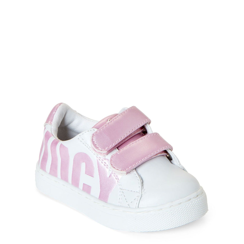 White & Pink Lil Modesto Sneakers