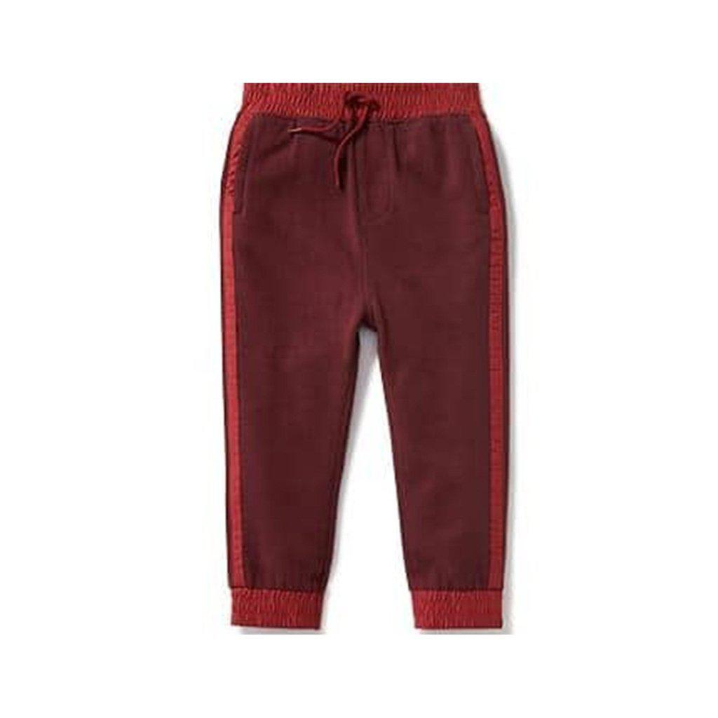 Side-Stripe Fleece Joggers