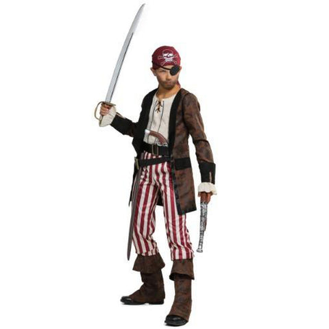 BROWN COAT PIRATE BOYS COSTUME