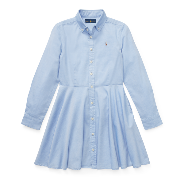 Cotton Oxford Mesh Shirtdress