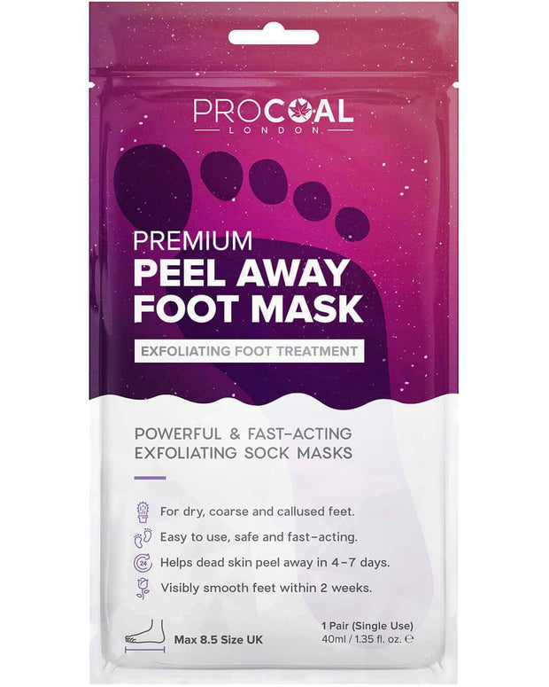 procoal peel away exfoliating and peeling foot mask