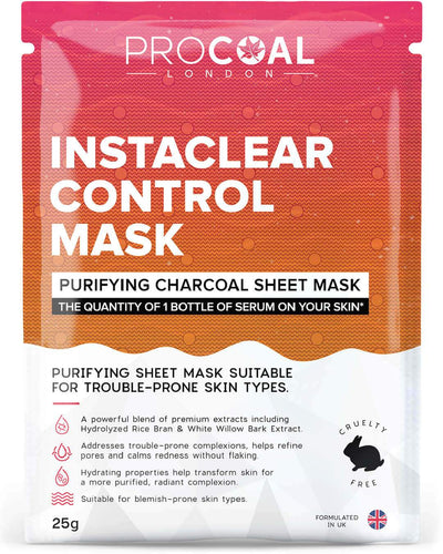 procoal instaclear control sheet mask