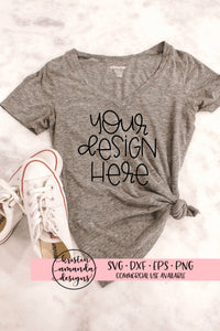 Women's T-Shirt Mockup Image, Stock Photography, Instant Download, Styled Photography, Mug Mockup Bundle - SVG File Cricut Kristin Amanda Designs