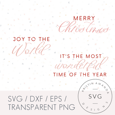 Modern Farmhouse Christmas Bundle SVG DXF EPS PNG Cut File • Cricut • Silhouette