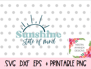 Sunshine State of Mind Blessed Mama Mama's Blessing Matching Mother Daughter Blessed Mama Mother's Day SVG DXF EPS PNG Cut File • Cricut • Silhouette