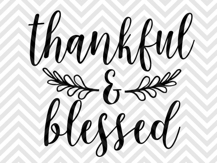 Download Thankful and Blessed Farmhouse SVG Cut File • Cricut ...