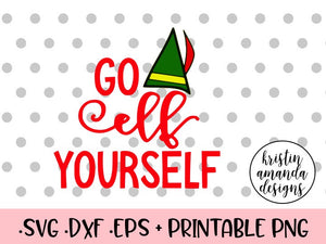 graphic relating to Elf Yourself Printable named Move Elf Your self Xmas SVG DXF EPS PNG Lower Document Cricut Silhouette