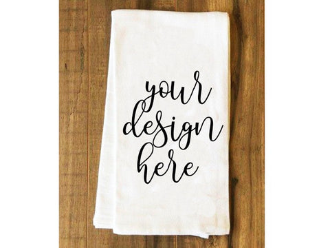 Tea Towel Flour Sack Farmhouse- MOCK-UP Image, JPEG File, for Product Display, Image - SVG File Cricut Kristin Amanda Designs