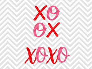 XOXO Valentine's Day Love SVG and DXF EPS Cut File • Cricut • Silhouette - SVG File Cricut Kristin Amanda Designs