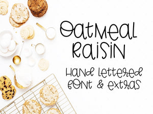 Oatmeal Raisin Hand Lettered Font with Extras - SVG File Cricut Kristin Amanda Designs