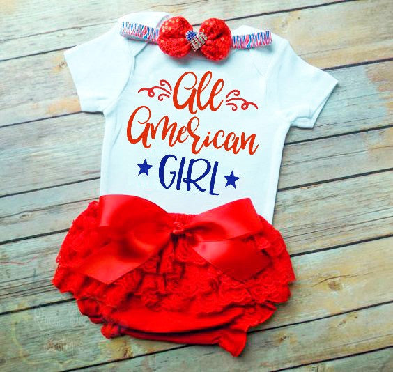 All American Girl 4th of July SVG DXF EPS PNG Cut File • Cricut • Silhouette