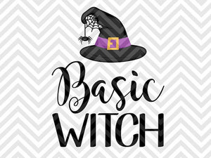 Basic Witch Halloween SVG and DXF Cut File • PDF • Vector • Calligraphy • Download File • Cricut • Silhouette - Kristin Amanda Designs