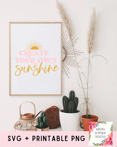 Create Your Own Sunshine Spring Easter SVG DXF EPS PNG Cut File • Cricut • Silhouette