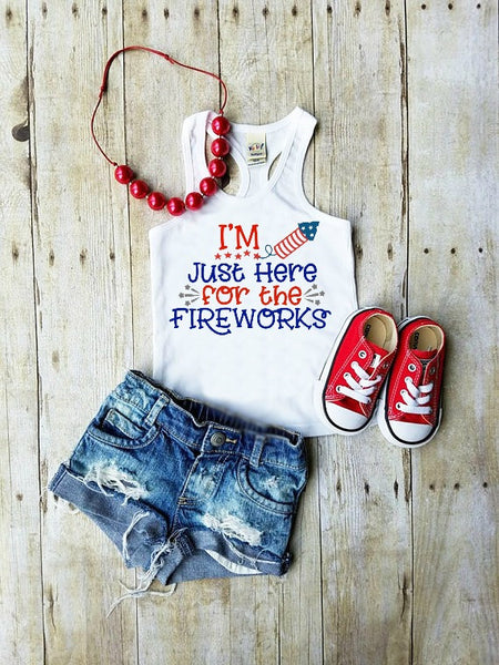 I'm Just Here For the Fireworks 4th of July SVG DXF EPS PNG Cut File • Cricut • Silhouette
