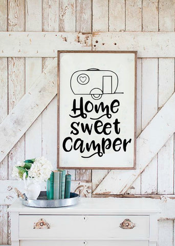 Home Sweet Camper Camping SVG DXF EPS PNG Cut File • Cricut • Silhouette - SVG File Cricut Kristin Amanda Designs