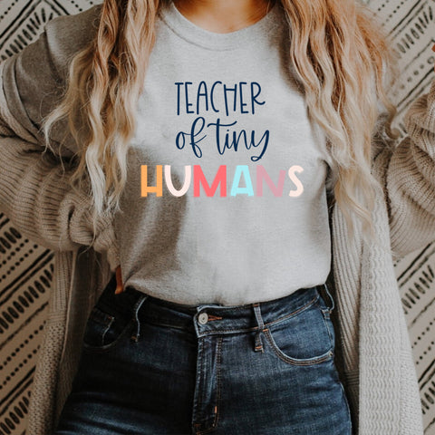 Teacher of Tiny Human Tamer Teacher 100th Day of School PNG SUBLIMATION DESIGN