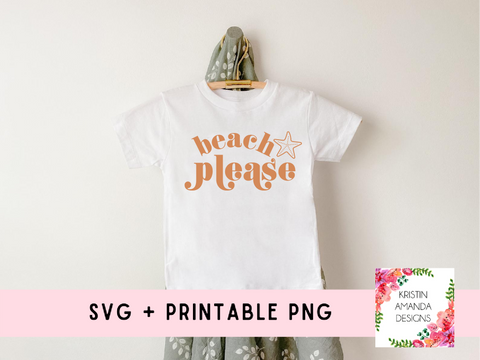 Beach Please Summer SVG Cut File and PNG  • Cricut • Silhouette