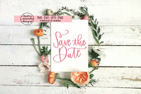 save the date wedding svg dxf eps png cut file cricut silhouette