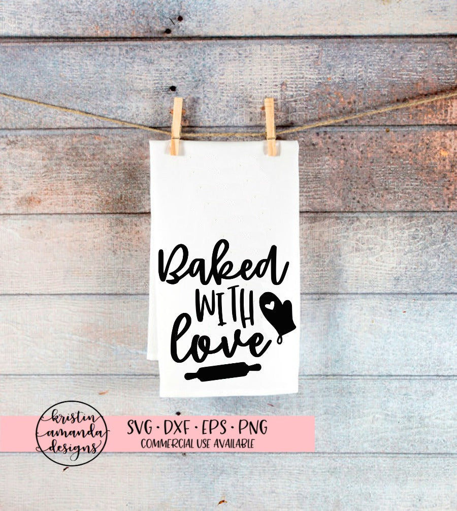 454+ Baked With Love By Svg File for Free