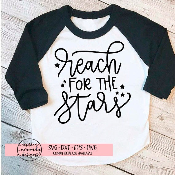 Reach for the Stars Graduation SVG DXF EPS PNG Cut File • Cricut • Silhouette
