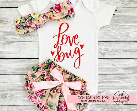Love Bug Valentine's Day SVG DXF EPS PNG Cut File • Cricut • Silhouette - SVG File Cricut Kristin Amanda Designs
