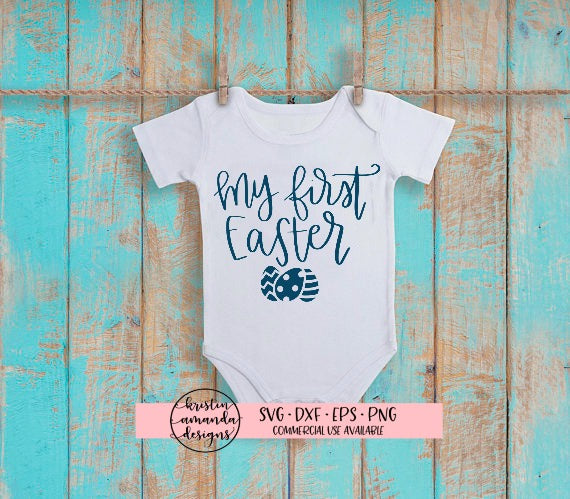 My First Easter SVG DXF EPS PNG Cut File • Cricut • Silhouette