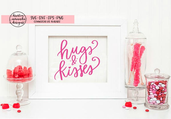 Hugs and Kisses Valentine's Day SVG DXF EPS PNG Cut File • Cricut • Silhouette
