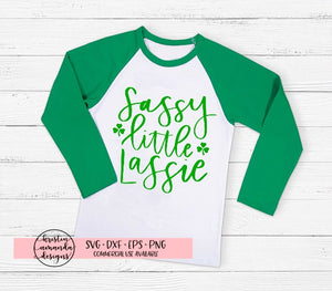 Sassy Little Lassie St. Patricks Day SVG DXF EPS PNG Cut File • Cricut • Silhouette - SVG File Cricut Kristin Amanda Designs