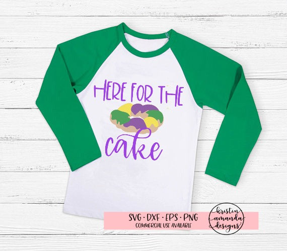 Here for the Cake Mardi Gras King Cake SVG DXF EPS PNG Cut File • Cricut • Silhouette