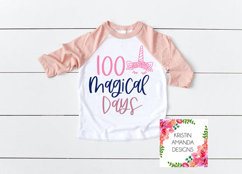 100 Magical Days 100th Day of School SVG DXF EPS PNG Cut File • Cricut • Silhouette