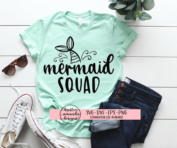 Mermaid Squad SVG DXF EPS PNG Cut File • Cricut • Silhouette