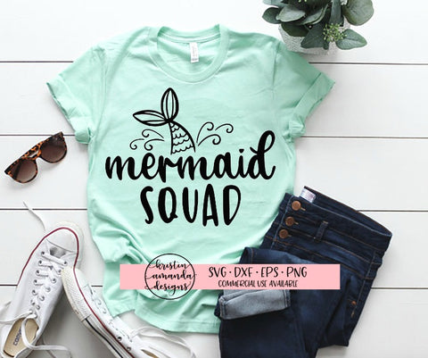 Mermaid Squad SVG DXF EPS PNG Cut File • Cricut • Silhouette - SVG File Cricut Kristin Amanda Designs