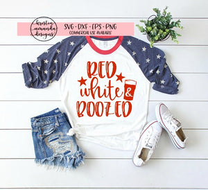 Red White and Boozed Fourth of July  SVG DXF EPS PNG Cut File • Cricut • Silhouette - SVG File Cricut Kristin Amanda Designs