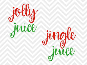 Jolly Juice Jingle Juice Wine Christmas SVG and DXF Cut File • Png • Vector • Calligraphy • Download File • Cricut • Silhouette - Kristin Amanda Designs